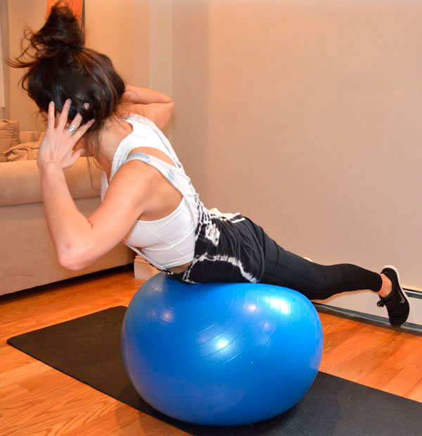 Back Extension and Twist exercise ball