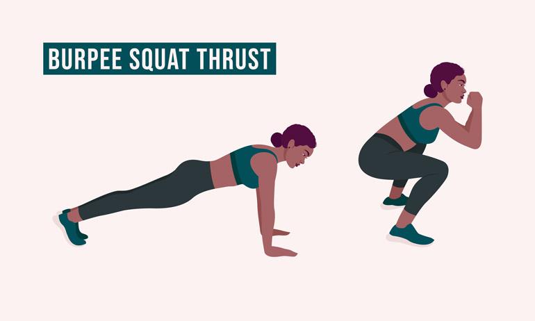 Burpee vs Squat Thrust chart