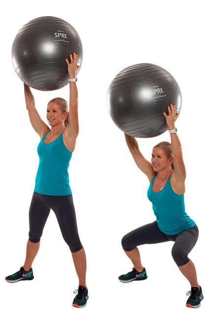 Overhead Ball Squat