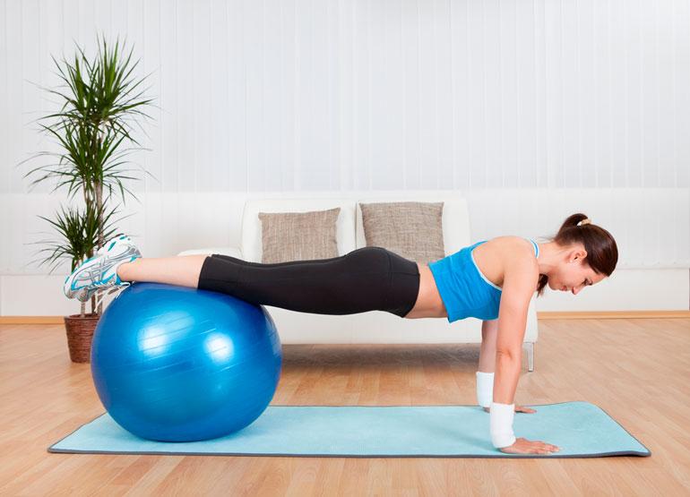 Push Ups on stability balls