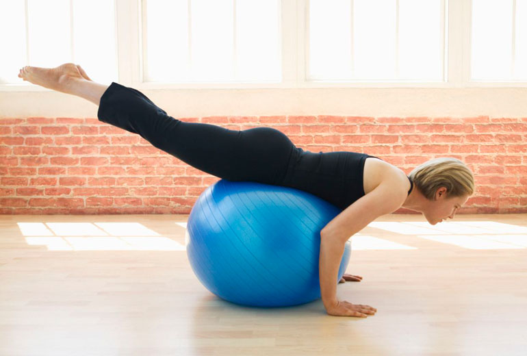 Reverse Extension with exercise ball