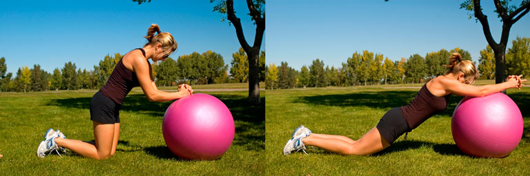 Roll Out with stability ball