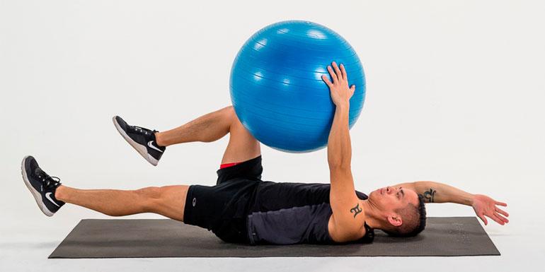 Stability Ball Deadbug