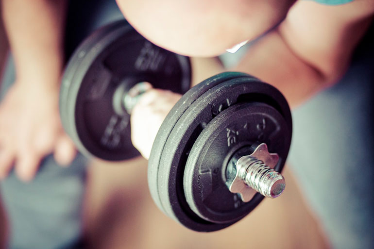 adjustable dumbbell close view