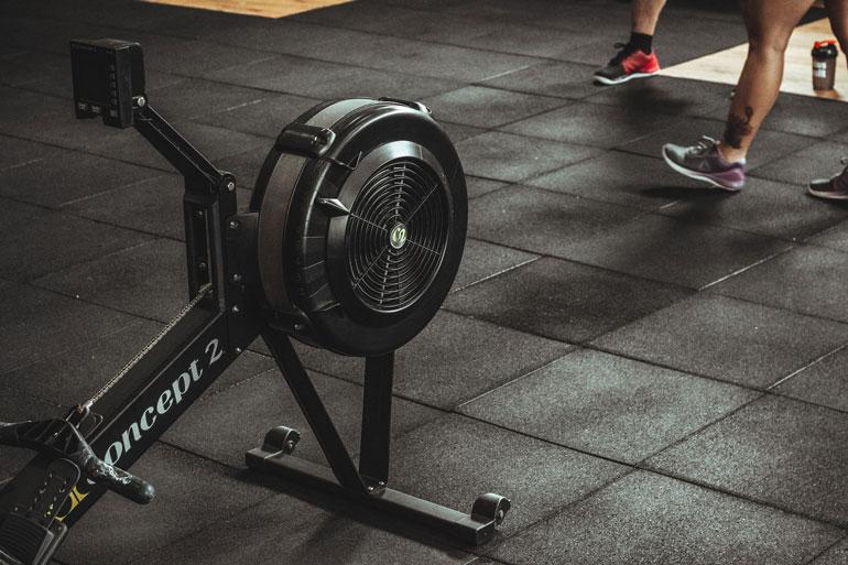 concept 2 black rowing machine