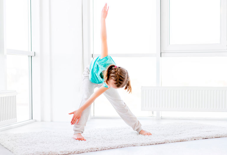 girl doing Windmill Exercise