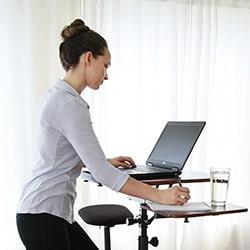 Compact Height adjustable standing desks