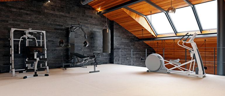 home gym design on top floor