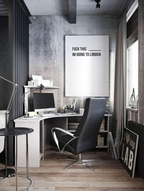 small home office idea for man