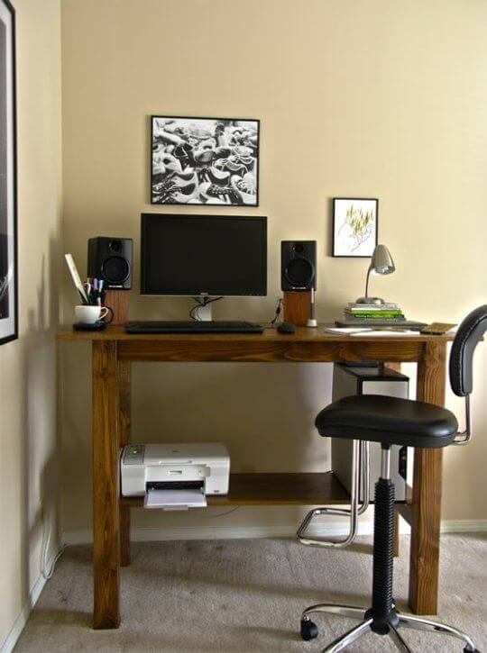 ascetic home office idea for man
