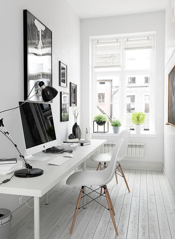 light home office idea for man