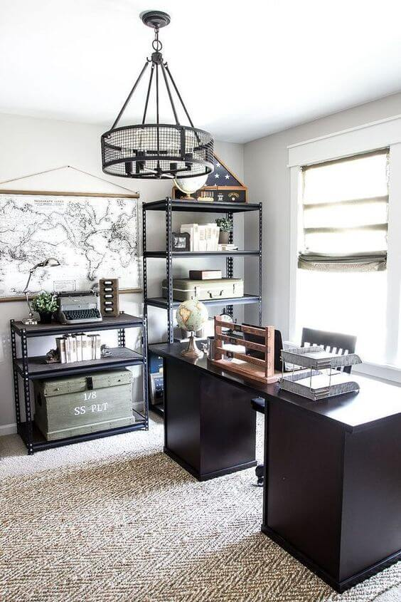 impressive home office idea for man