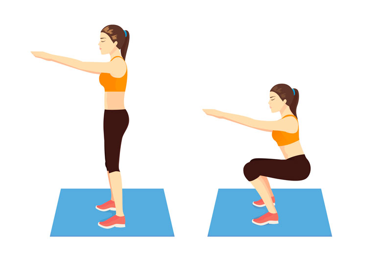 how to Air Squat chart