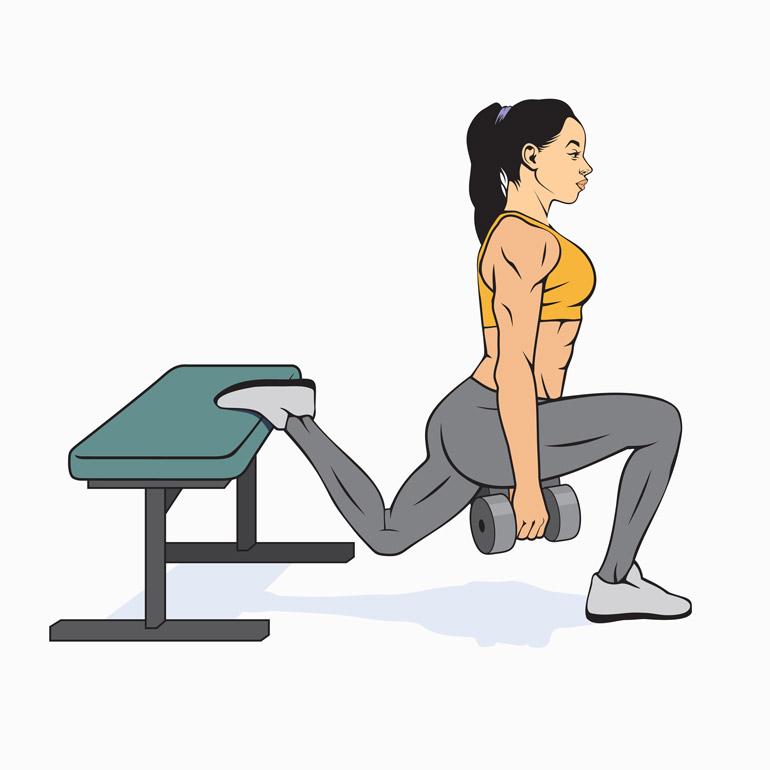 how to Bulgarian Dumbbell Split Squat