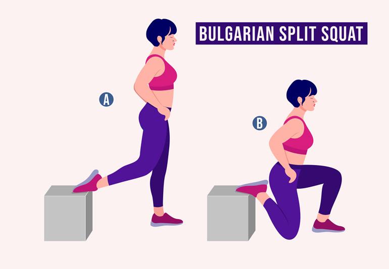 how to Bulgarian Split Squat chart
