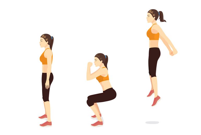 how to Jump Squats