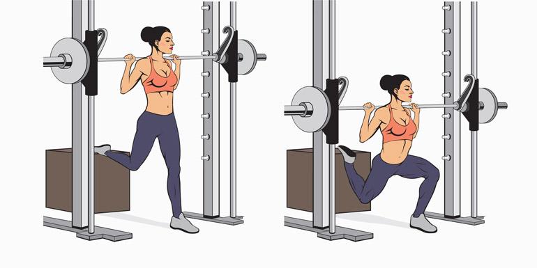 how to barbell bulgarian split squat