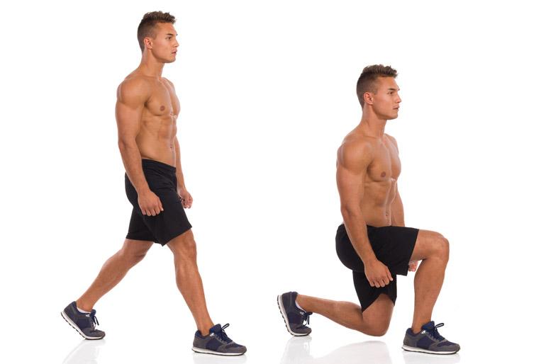 how to barehand Split Squat chart