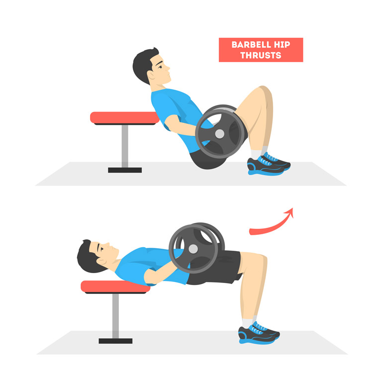 how to do Hip Thrust with a barbell