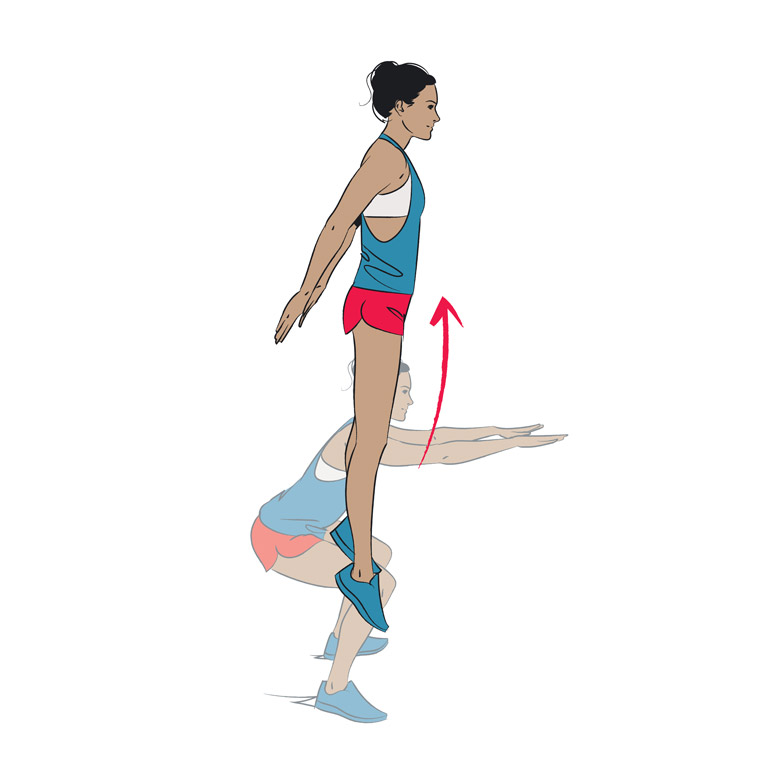 how to do Jump Squats chart