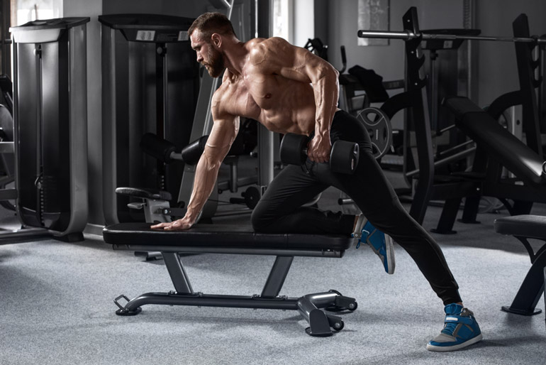 man performing Dumbbell Row