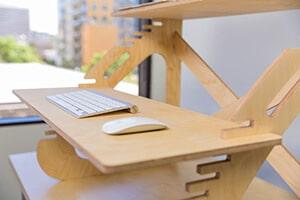 Stand-up desk converter keyboard