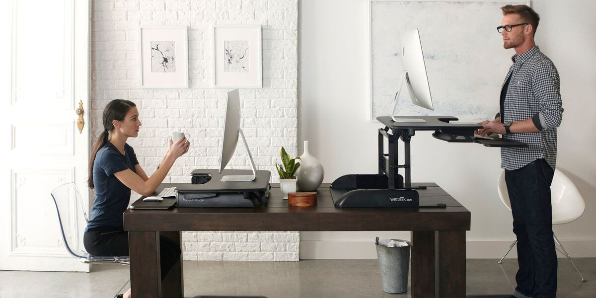 Standing desk idea for home office