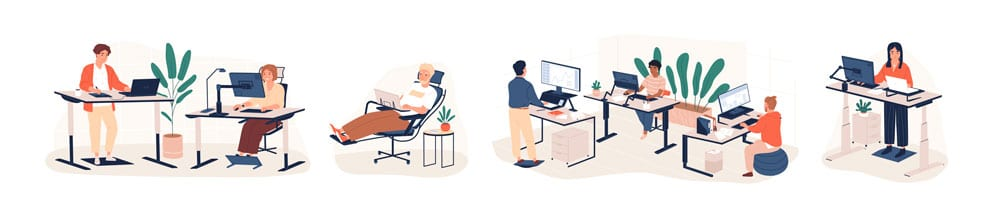 standing desk office idea sketches