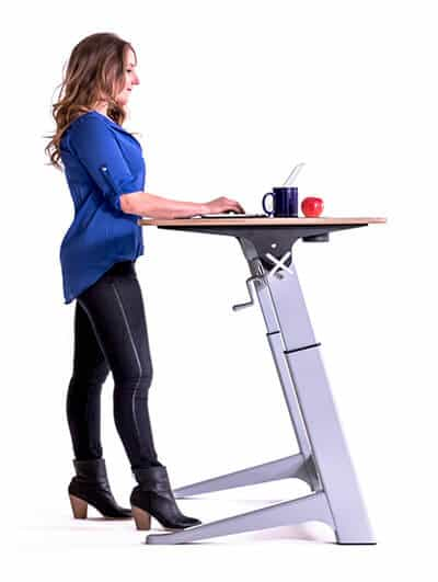 what is height adjustable standing desk with keyboard tray