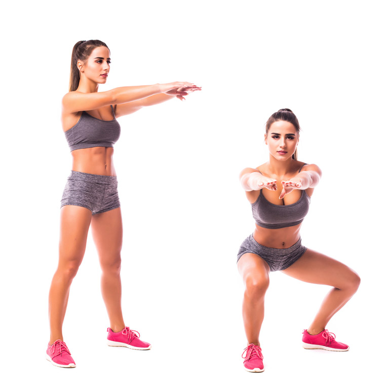 woman performing Squat Thrust With Twist
